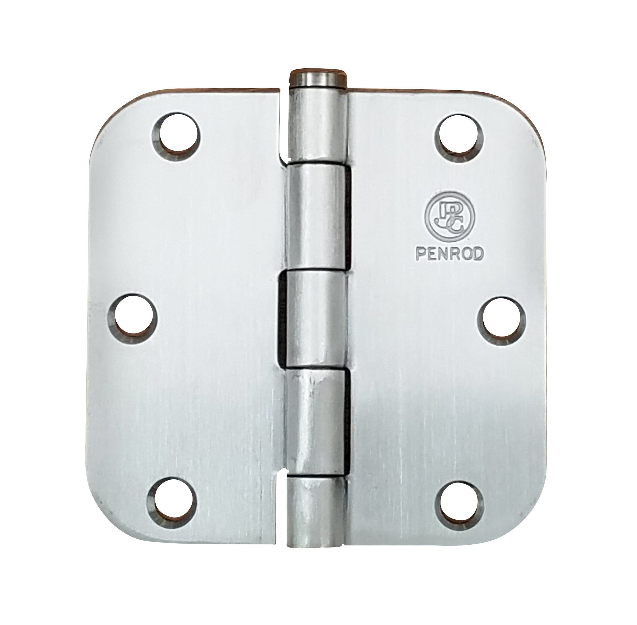 "Residential Penrod Door Hinges - Plain Bearing Aluminum Finish - Door Hinges - 3.5"" Inches with 5/8"" Radius - 2 Pack"