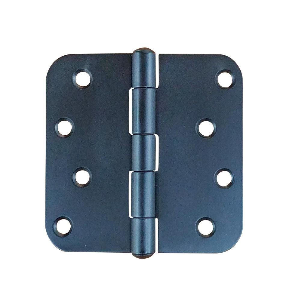 "Black Stainless Steel Hinges Residential Hinges - 4"" inch with 5/8"" inch radius - Highly Rust Resistant - 3 Pack"