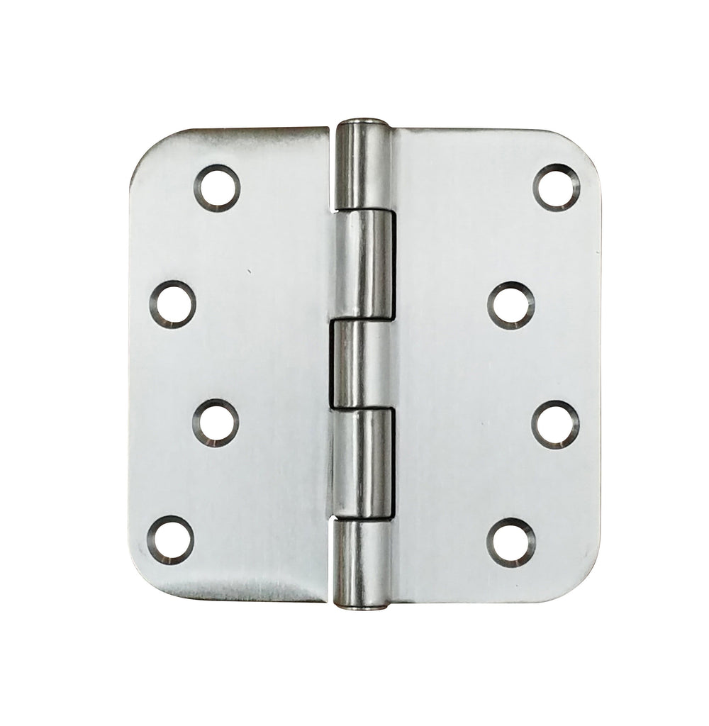 "316 Grade Stainless Steel Security Hinges 4"" with 5/8"" Radius Corner - Highly Rust Resistant - 3 Pack"