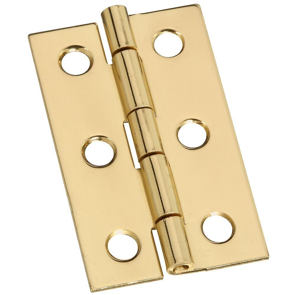 "2"" x 1-3/16"" Small Medium Hinges - Solid Brass - 2 Pack"