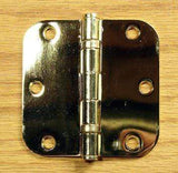 "3 1/2"" x 3 1/2"" with 5/8"" radius Residential Ball Bearing Hinges - Multiple Finishes - Sold in Pairs -  Bright Brass - 3"