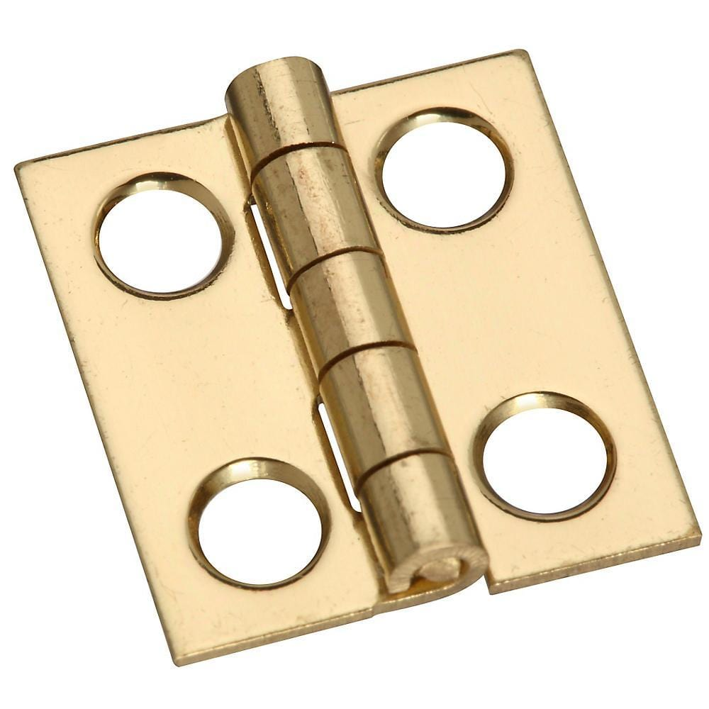 "3/4"" x 11/16"" Small Medium Hinges - Solid Brass - 4 Pack"