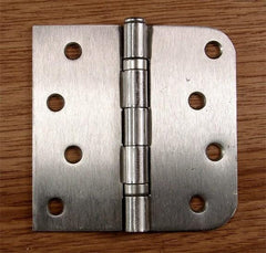 "4"" x 4"" square with 5/8"" radius corners Residential Ball Bearing Hinges - Multiple Finishes - Sold in Pairs -  Satin Nickel - 1"