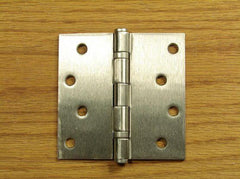 "4"" x 4"" Ball Bearing Square Corner Hinge - Satin Nickel finish - Sold in Pairs - 5/8"" x Square Corner Hinges"