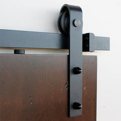 "Barn Door Hinges / Hardware Kit – Slade Style for Doors 30"" Inches to 48"" Inches Wide – Black Finish"