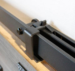 Barn Door Hinges / Hardware Kit - Barn Door Soft Close - Black Finish