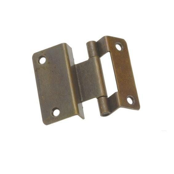"Bifold Lipped Door Hinges - Non Mortise - 13/32"" Overlay - High Quality Steel - 2"" Inch Length - Multiple Finishes Available - Sold Individually"