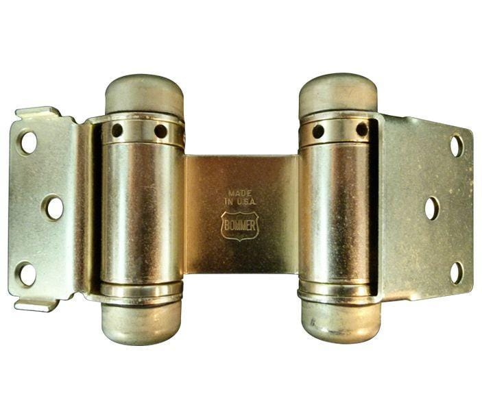 Double Action Hinge with Hold Open - 3 Inch Light Duty - Multiple Finishes - Sold Individually