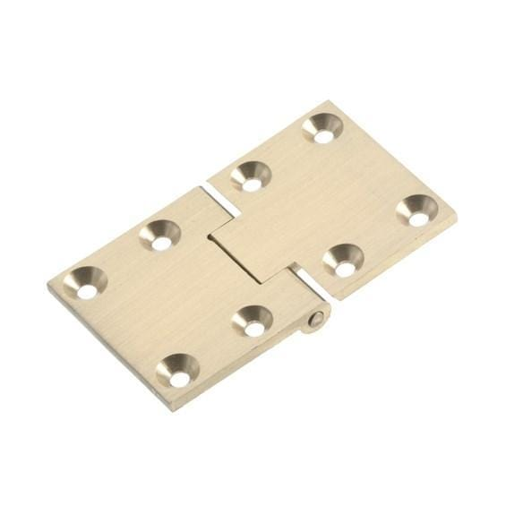 Butler Tray Hinges - Polished Solid Brass - Multiple Sizes - Square & Round Ends Available - Sold Individually