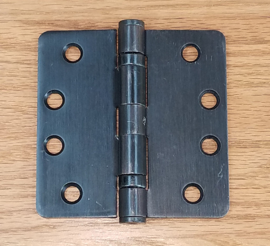 "Commercial Ball Bearing Door Hinges 4"" with 1/4"" radius corners - Multiple Finishes - 2 Pack"