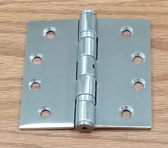 "Commercial Ball Bearing Door Hinges - 4"" Inches Square - Multiple Finishes - Sold in Pairs"
