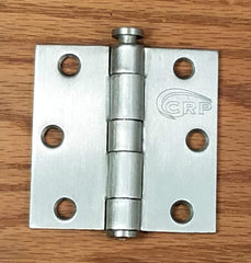 "Commercial Door Hinges - 3"" Inches Square - Multiple Finishes - 2 Pack"