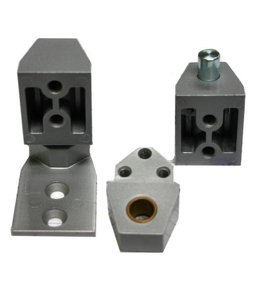 "Pivot Door Hinges Arch Style - Offset for Aluminum Doors - Face Frame or 1/8"" Recessed Applications"