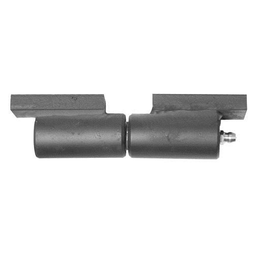 "Weld On 7"" inch Heavy Duty Barrel Hinge - Matte Black - 1-1/2"" x 3"" weld pads"