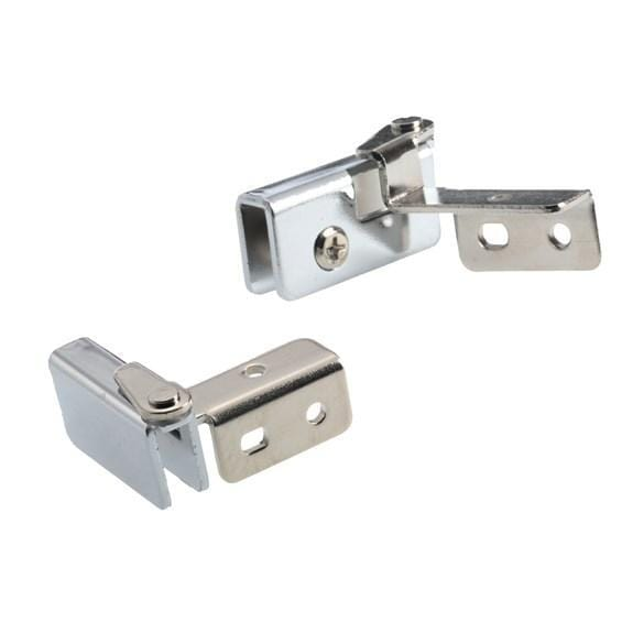Glass Door Hinges - 194° Open Overlay - Heavy Steel - Multiple Finishes Available - 2 Pack