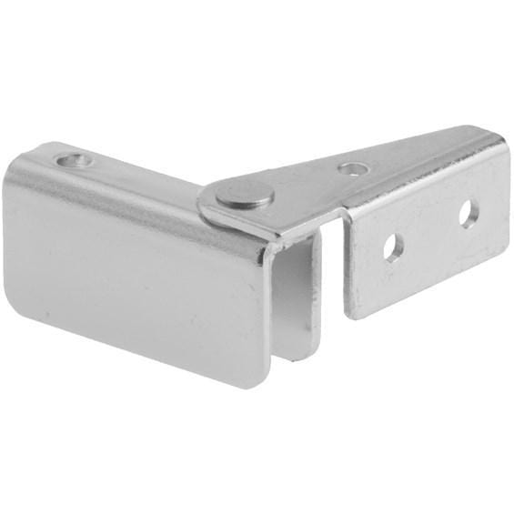 Glass Door Hinges - Side Mount Inset - Multiple Finishes Available - 2 Pack