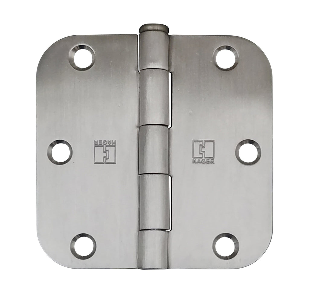 "Hager Door Hinges - 3.5"" Inch with 5/8"" radius - Multiple Finishes - 3 Pack"