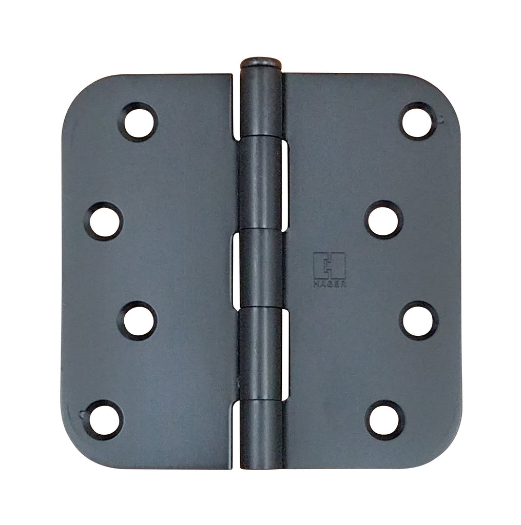 "Hager Five Knuckle Plain Bearing Hinges - 4"" Inch with 5/8"" radius - Multiple Finishes - 3 Pack"