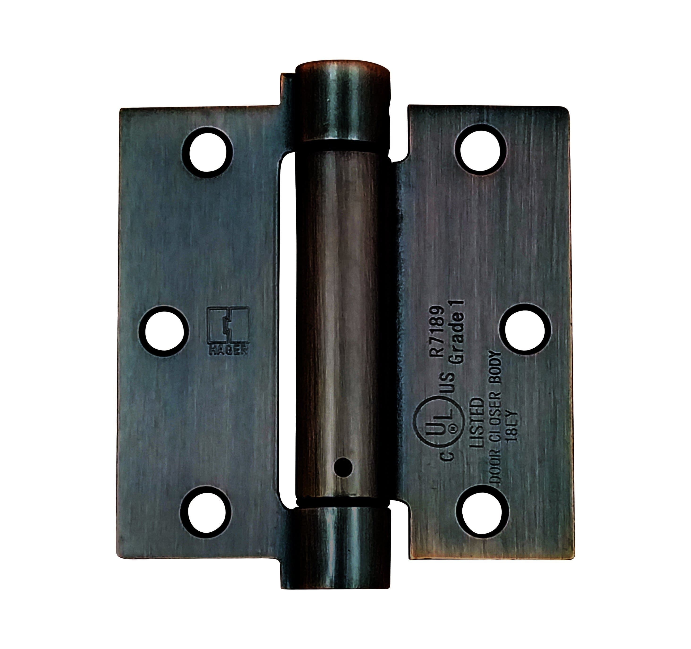 "Hager Spring Hinges - 3.5"" Inch Square - Multiple Finishes - Sold Individually"
