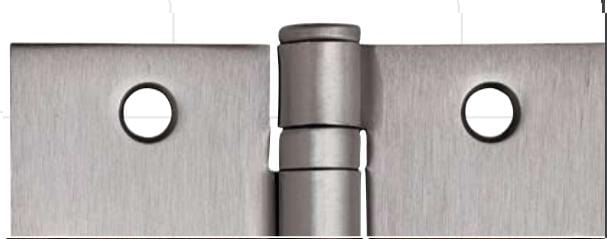 "Hager Spring Hinges - 4"" Inch x 4"" Inch with 1/4"" Inch Radius - Multiple Finishes - Sold Individually"