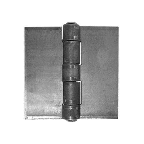 "Weld On Wide Throw Hinges - Extra Heavy Duty Steel - 6"" Inch Square - 2 Pack"