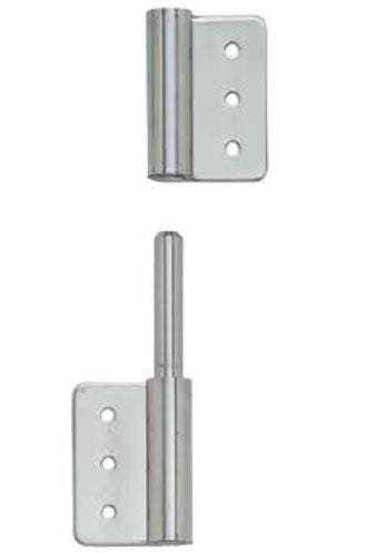 "Lift Off Hinges - For Cabinets 3-15/16"" x 2-23/64"" - Stainless Steel - Sold Individually"