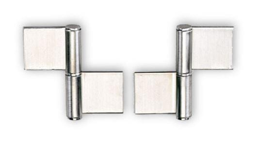"Weld On Lift Off Door Hinges - 4-1/64"" x 2-5/32"" - Stainless Steel - Sold Individually"