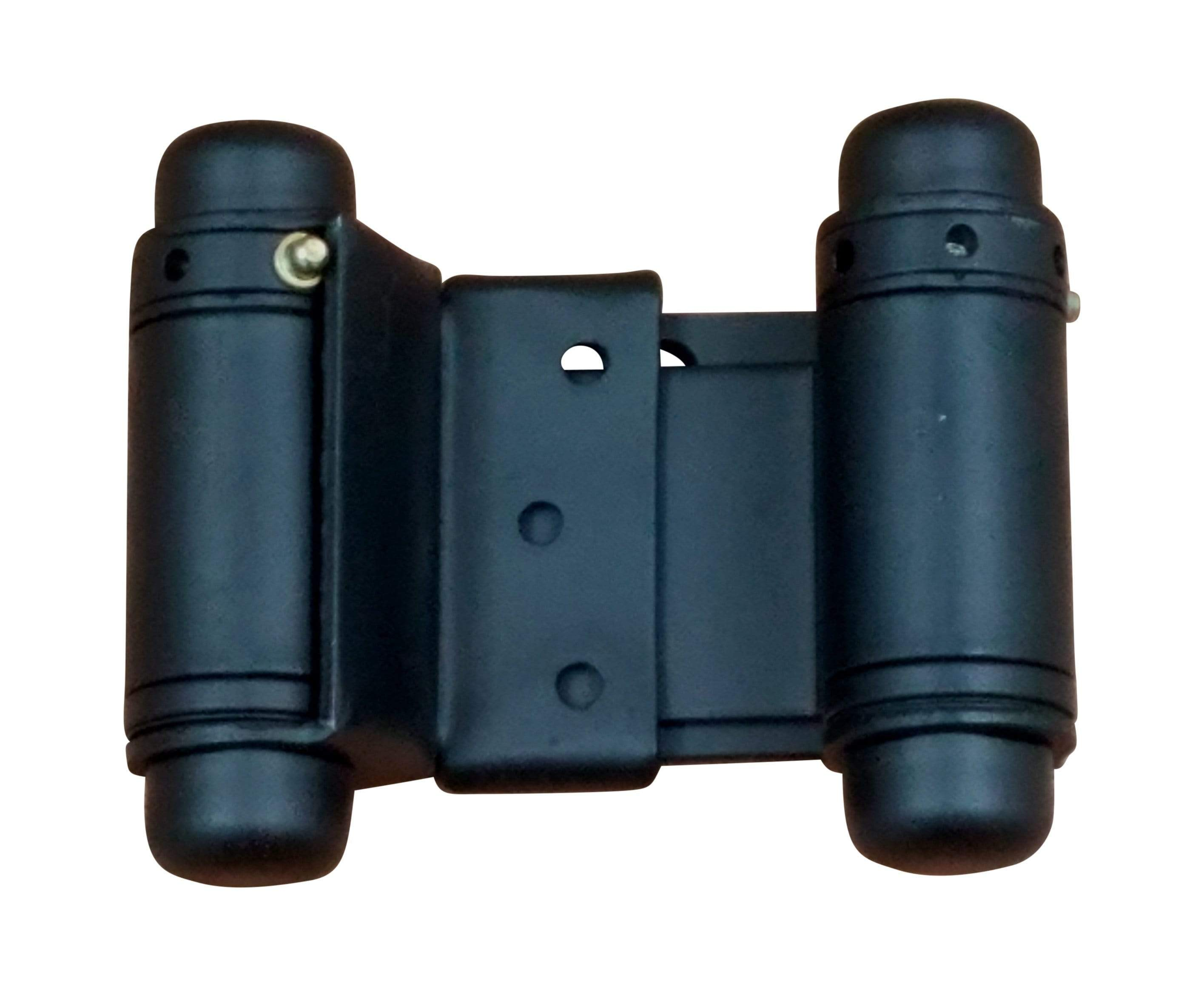 Double Acting Spring Hinges - Adjustable - Matte Black - 2 inches to 6 inches