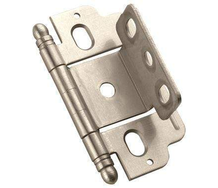 "Partial Wrap Cabinet Hinges - 3/4"" Inch Door Thickness - 2 1/2"" x 1"" - Multiple Finishes - Sold Individually"