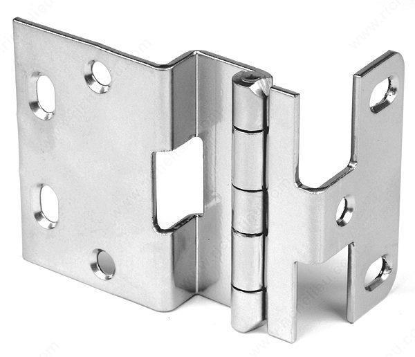 "Offset Hinges - 1/2"" Overlay Institutional Hinge - Multiple Finishes Available - Sold Individually"