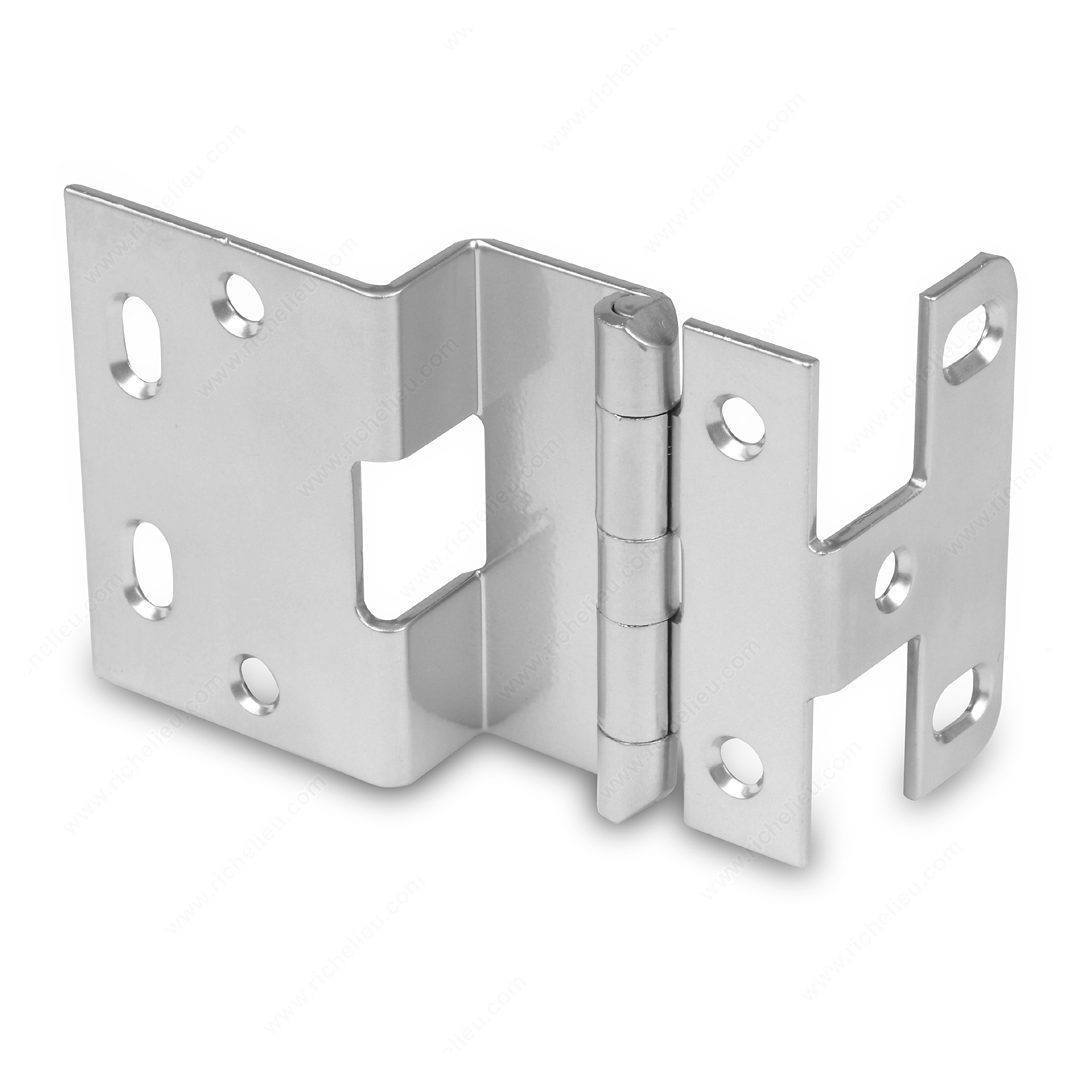 "Offset Hinges - 3/4"" Overlay Institutional Hinge - Multiple Sizes & Finishes Available"