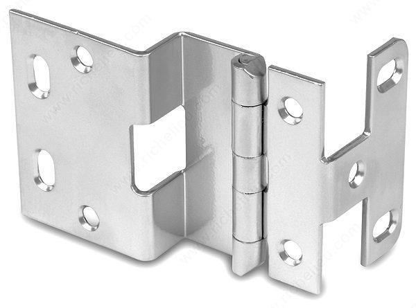 "Offset Hinges - 3/4"" Overlay Institutional Hinge for Narrow Frame Doors - Stainless Steel Finish - Sold Individually"