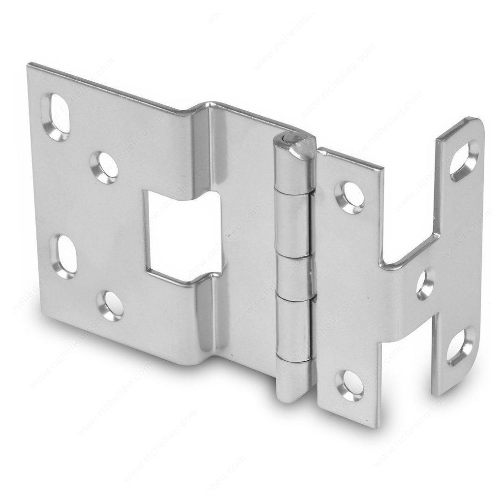 Offset Hinges - 3/8'' Overlay Institutional Hinge - Multiple Finishes Available - 2 Pack