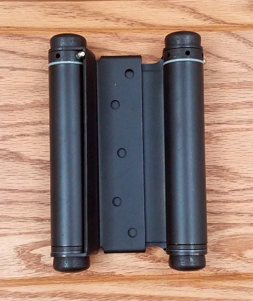 Double Action Spring Hinges - Adjustable - Oil Rubbed Bronze - 4 Inches to 6 Inches