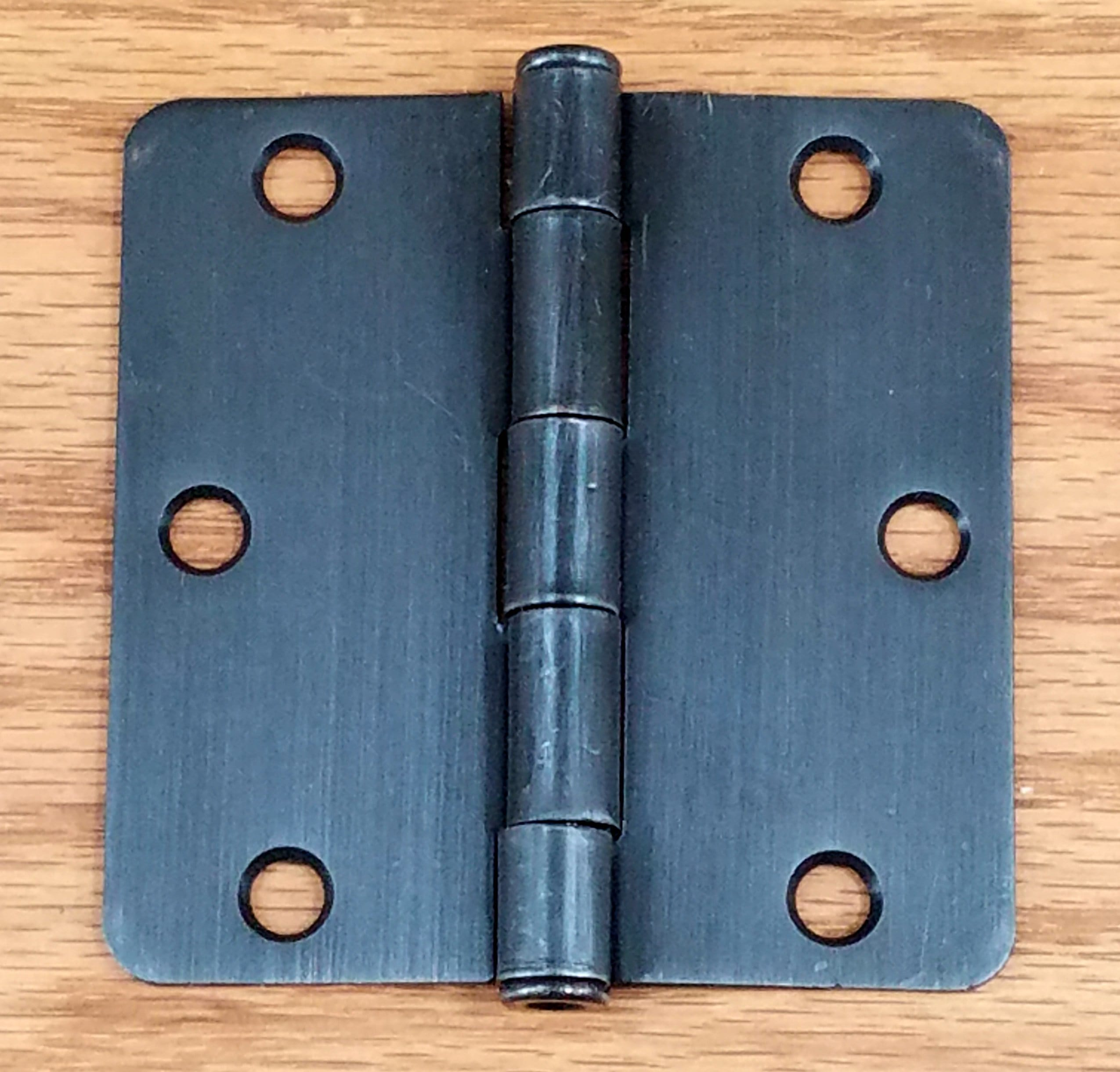 "Oil Rubbed Bronze - Residential Door Hinges - Interior Butt - 3.5"" Inches with 1/4"" Radius - 2 Pack"