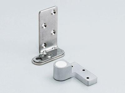 Pivot Hinge - Adjustable for Doors - Matte Chrome Finish - SUGATSUNE - 2 Pack