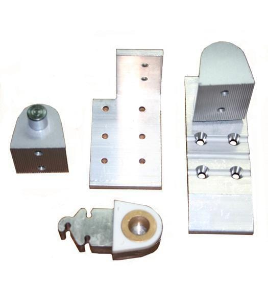 "Pivot Door Hinges Aldora Style - Offset for Metal Frame Doors - 1/8"" Recessed Applications"