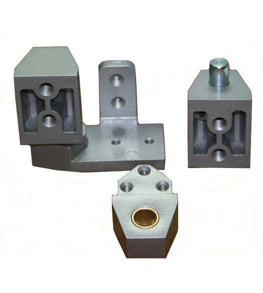 "Pivot Door Hinges Arch/Vistawall Style - Offset for Metal Frame Doors - 1/8"" Recessed or Face Frame Applications"