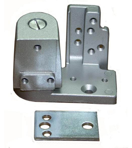 "Pivot Door Hinges Kawneer Style - Bottom Pivot - Offset for Metal Frame Doors - 1/8"" Recessed or Face Frame Applications"