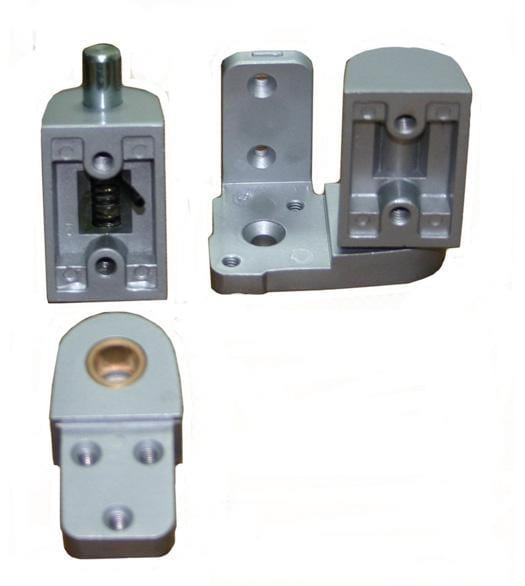 "Pivot Door Hinges Pitco Style - Offset for Metal Frame Doors - 1/8"" Recessed or Face Frame Applications"