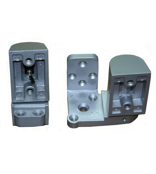 Pivot Door Hinges US Aluminum Style - Offset for Metal Frame Doors - Face Frame Applications