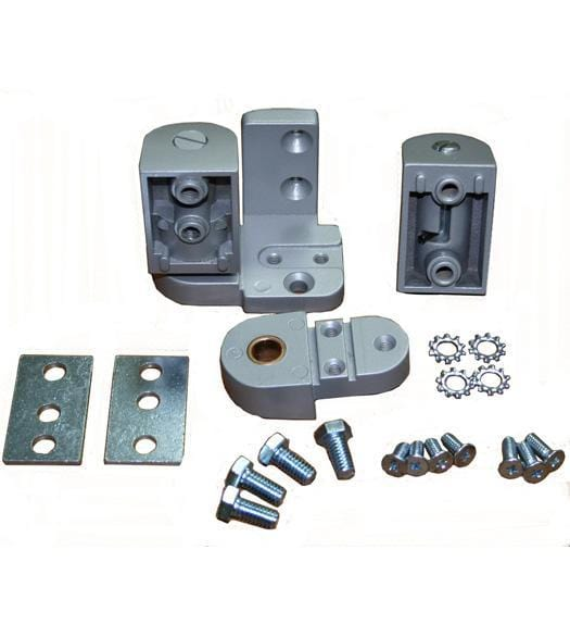 "Pivot Door Hinges YKK Style - Offset for Metal Frame Doors - 1/8"" Recessed Store Front or Face Frame Applications"