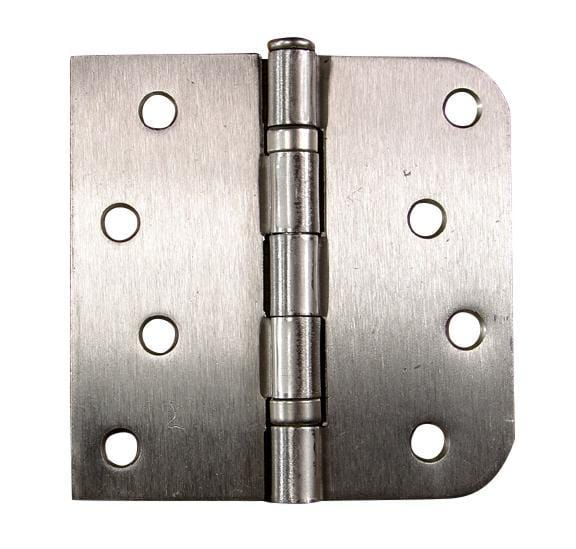 "Bulk Door Hinges 4"" Inch with 5/8"" Radius Square Ball Bearing - Satin Nickel or Oil Rubbed Bronze - 50 Hinges"