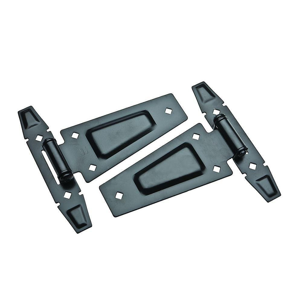 Rustic T Hinges - Black - 7-1/2 Inches - 2 Pack