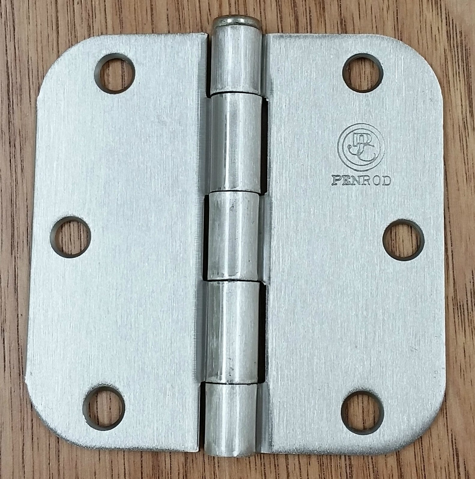 Residential Penrod Butt Hinge - Plain Bearing for Doors - 3 1/2 inch with 5/8 inch Radius Corner - Multiple Finishes Available - 2 Pack