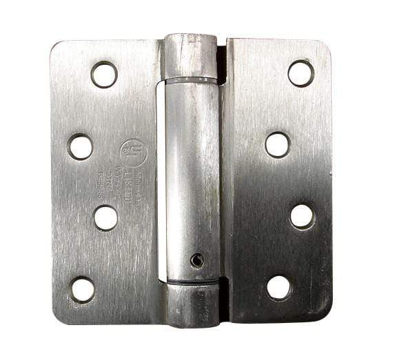 "Spring Loaded Hinges 4"" with 1/4"" radius corners - Multiple Finishes Available - 2 Pack"