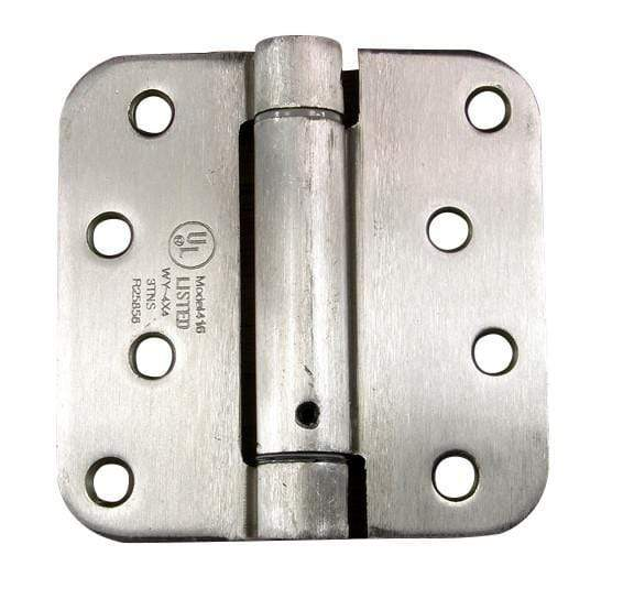 "Spring Loaded Hinges - Residential - 4"" with 5/8"" radius corner - Multiple Finishes - 2 Pack"