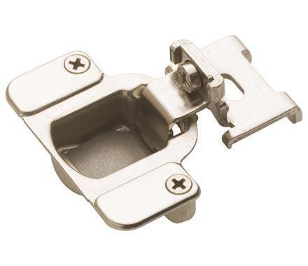 "Self-Closing Concealed 3/8"" Inch Overlay Cabinet Hinge - Nickel - 2 Pack"
