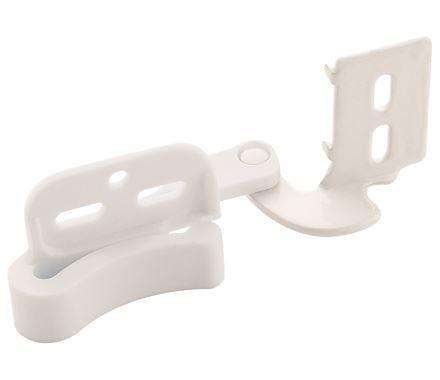 "Self Closing Partial Wrap Concealed 1/2"" Inch Overlay Cabinet Hinges - White - 2 Pack"