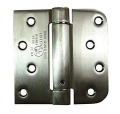 "Spring Hinges Self Closing 4"" with 5/8"" Square Radius - Multiple Finishes - 2 Pack"